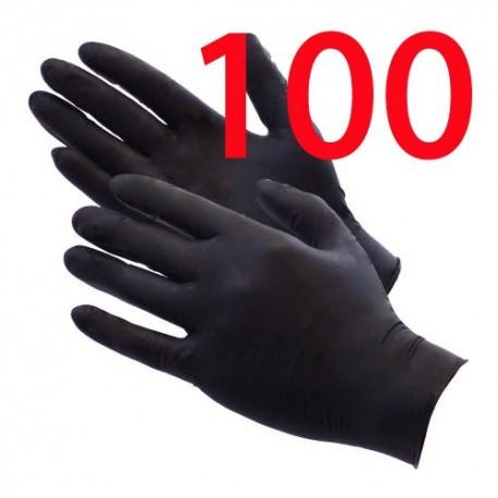 showcarshine black nitrile gloves 100szt. rozm. l : heavy duty