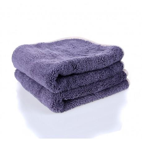 showcarshine microfiber extra fluffy grey finishing cloth 700gsm