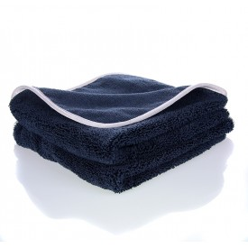 showcarshine microfiber black/silver towel 370gsm