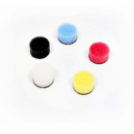 nat zestaw gąbek polerskich nano polisher 16mm