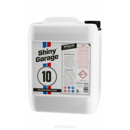shiny garage yellow neutral snow foam banana 5l