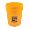 """work stuff """"wash"""" żółte wiadro detailingowe 20 l"""