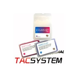 tac system : clay bar 2 x 100g soft + medium