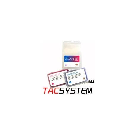 tac system : clay bar 2 x 100g soft + medium