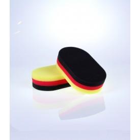 showcarshine aplikator tri color, polishing/finishing