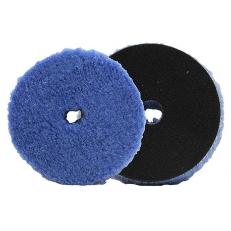 lake country foamed wool buffing & polishing pad (135mm) - fioletowe