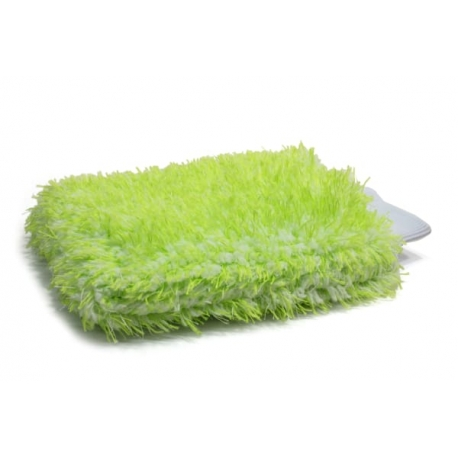 showcarshine microfiber extra fluffy wash mitt - green