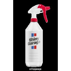 shiny garage butelka z pustą etykietą i atomizerem 1l
