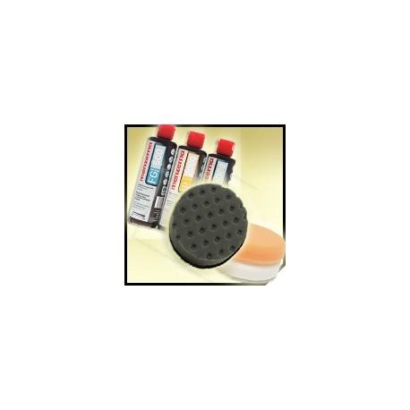 menzerna & lc zestaw deluxe - 3x250ml + pady 3-pack